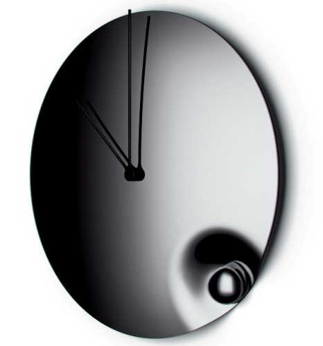 Acqua Stainless Steel Mirror clock by Bugatti