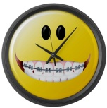 Braces Smiley Face Large Wall Clock