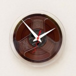 Clock Made From A Recycled Magnetic Tape Reel by Pixelthis