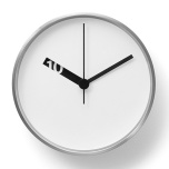 Extra Normal Wall Clock by Ross McBride