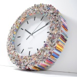 Magazine page clock by Etsy