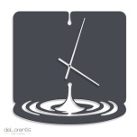 Metal Wall clock WATERDROPTolonensis Creation