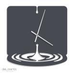 Metal Wall clock WATERDROPTolonensis Creation