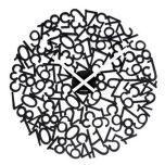 Mixed Numbers wall clock by J.P. Meulendijks