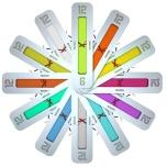 Vertical Clock' by Klaus Rosburg