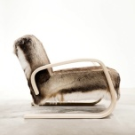 Reindeer hide armchair 400 by Ilse Crawford