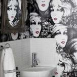 """Оригинални тапети за баня,които привличат цялото внимание и """"изтриват"""" малкия размер на банята"""