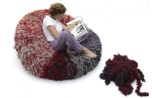 Fluffy and soft PomPon chair by CROP