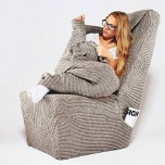 Cozy And Warm Armchair by Aga Brzostek
