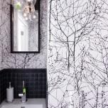 Тапети за баня,изпъкващи на преден план със завладяващ дизайн