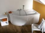 Асиметрична вана Elba - 160 x 90 cм - компромис между вана XXL и ъглова, тя е подходяща за малките помещения.